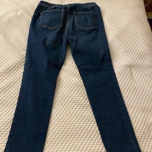 Free people bran High waisted blue jeans